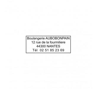 Caoutchouc jusqu'à 4 lignes de texte pour ref: 4912