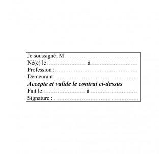 Caoutchouc jusqu'à 7 lignes de texte pour ref: 4931