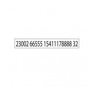 Caoutchouc jusqu'à 2 lignes de texte pour ref: 4916