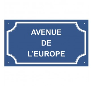 "Plaque de rue en alu "" Avenue de l' Europe """