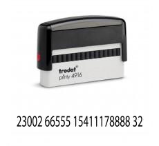 Tampon complet Printy ref: 4916 Trodat jusqu'à 2 lignes de texte