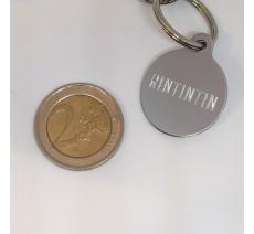 Médaille en alu de couleur gris