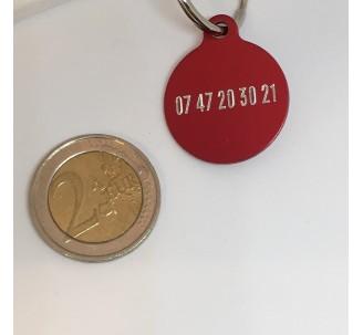 Médaille en alu de couleur rouge