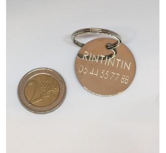 Médaille métal argent brillant