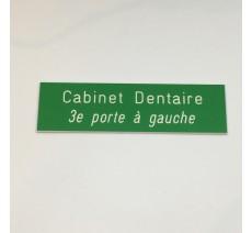 Plaque boîte aux lettres, fond vert texte gravé blanc