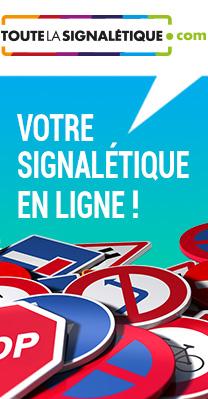Signalétique : panneau, pancarte...